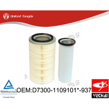 D7300-1109101*-937 Original Yuchai engine air filter for Chinese truck