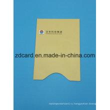 Цвет алюминиевой фольги бумаги RFID кредитной карты держатель рукав сумка