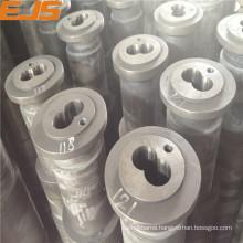 bimetallic or nitrided twin plastic extruder quenching screws barrels