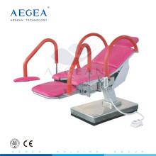 Gynécologie avec support de papier poser un examen table d'opération enceinte