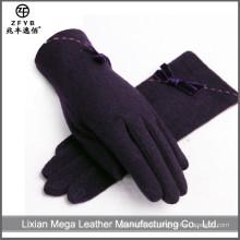 China Großhandel benutzerdefinierte schwarze Wolle Handschuhe