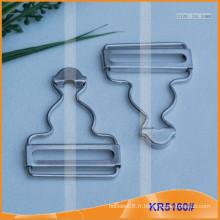 Boucle de calotte en métal pour accessoires de vêtement KR5160