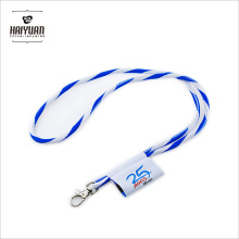 High Quality Round Jacquard Woven Rope Cord Lanyard