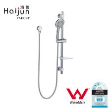Haijun Preços baratos Watermark Single Tier Chrome Plate Bathroom Shower Rack