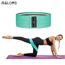 Bandas de botín para mujeres Bandas de resistencia de entrenamiento de tela antideslizante para mujeres Bandas de ejercicio de glúteos para glúteos y piernas