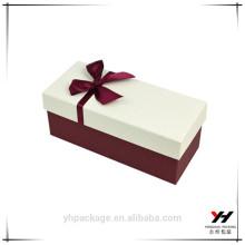 Personnalisé de haute qualité boîtes de luxe en papier texturé blanc en gros