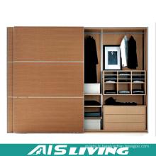 Placard armoires de chambre à coucher en bois de grain (AIS-W237)