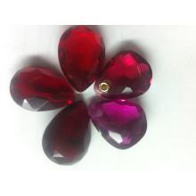 Piedras de cristal de lujo con un agujero para colgante de joyería
