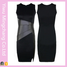 Fast Delivery Party Evening Splice Slim Pencil Dress