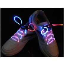 Cadarço de moda levado LED cadarços coloridos com bateria