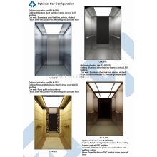 Ascenseur de passagers / Machine de levage de passagers sans salle de séjour avec 450kg, 630kg, 800kg 1000kg, 1150, 1250, 1350 et 1600kg