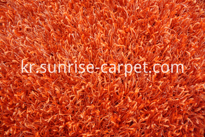 Polyester Shaggy mix yarn Solid color