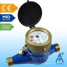 MID Certificated Multi Jet Dry Dial Brass Water Meter