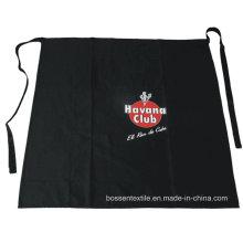 OEM Produce Customized Logo Printed Black Cotton Promotional Pocket Waist Apron