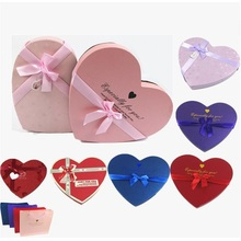 Chocolate in heart shape gift box