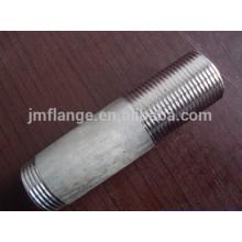 Exportação parafuso longo de aço carbono rosqueado tubo de extremidade mamilo