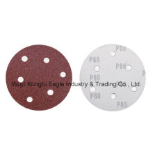 Red Round Hook & Loop Sanding Disc for Wooden Grinding Abrasive Disc