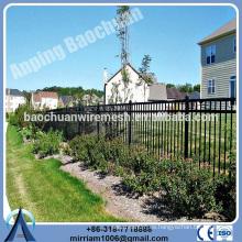 Baochuan fabuloso precio bajo cerca de acero / hierro forjado / cerca de aluminio
