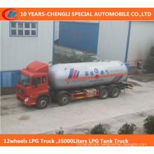 12wheels LPG Truck, 35000liters LPG Tank Truck