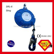 SRL-6 Fall-Ableiter Aluminium-Drehhaken 6M Selbstfahrende Rettungsleine