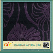 Deep Color Upholstery Flocking Fabric 260-340GSM