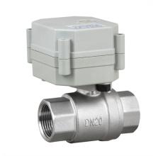 Válvula de controle elétrica da válvula da esfera da água de aço inoxidável do OEM 2 maneira NSF (T20-S2-C)