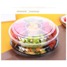 Pet Compartment Take Away Salad Food Container Tray with Lid