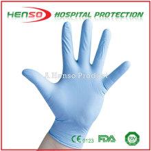 Luvas de exame de nitrilo desgastado estéril Henso