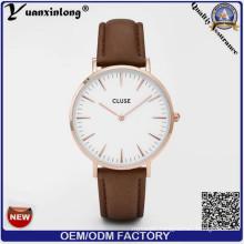 Yxl-238 2016 New Fashion Quartz Watch Customized Logo China Suppliers Military New Genuine Leather Watches Wrist Men