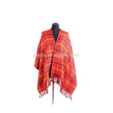 Fashion acrylic tribal ladies winter poncho scarf
