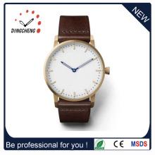 Diseño de moda clásico Japón Movt reloj de cuarzo con correa de cuero (DC-1439)