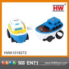 Hot Sale Cartoon Mini Wind Up Cheap Small Plastic Toy Boat