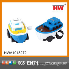 Hot Venda desenhos animados Mini Wind Up pequeno barco de brinquedo de plástico baratos