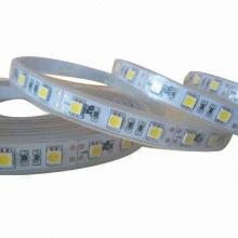 3528 SMD LED Strip Tape Light 12V DC Warm White 120 LEDs/Meter IP67 Waterproof UL Listed