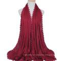 2017 beliebtesten Seide fühlen Damen Schal Baumwolle Hijab Großhandel Kopftuch für Frauen