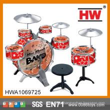 Plástico de alta qualidade crianças brinquedo jazz musical tambor