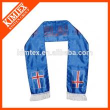 Мода пользовательских печати футбольный вентилятор полиэстер шарф