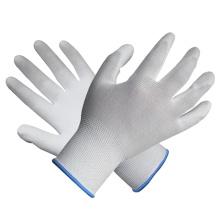 Gant en tricot en polyester Guitare blanc en caoutchouc et gant en polyuréthane avec Ce