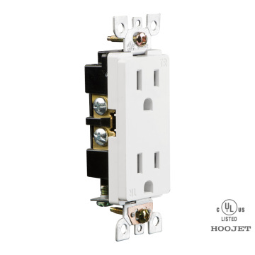 Enchufe de pared doble 15A / 120V TR cableado