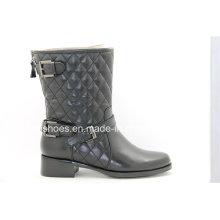 Comfort Low Heels Fashion Leder Lady Stiefeletten
