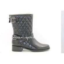 Comfort Low Heels Moda couro Lady Ankle Boots