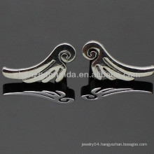 Angel wings shape stainless steel fashion for women&men&unisex stud charm earrings jewellery