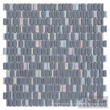 Azulejos de mosaico de vidrio iridiscente mixto Azul
