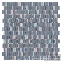 Mixed Iridescent Glass Mosaic Tiles Blue