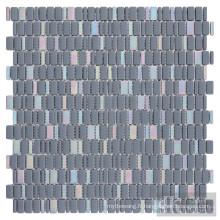 Carreaux de mosaïque en verre irisé mélangé bleu