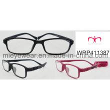 New Fashion Rubber Finish Rubber Temple Lunettes pour enfants Eyewearframe Optical Frame (WRP411387)