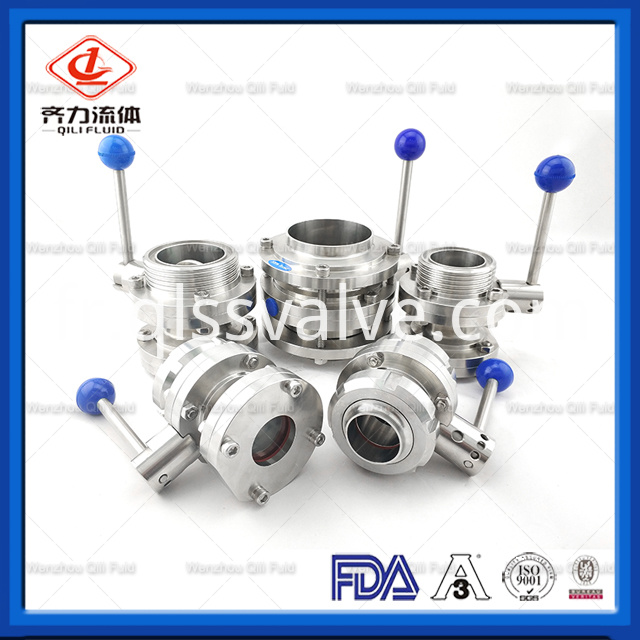 Sanitary Stainless Steel Butterfly Valve 177
