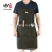 Multi-pocket practical long tool apron 100% cotton printed apron