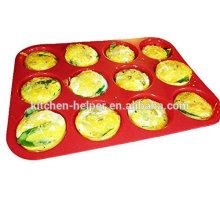 China Fabricante profissional Custom FDA Food Grade Antiaderente Resistente ao calor Mini Cupcake Silicone Muffin Pan