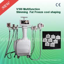 V100 para la criolipolisis del vacío del color del salón blanco que adelgaza la máquina